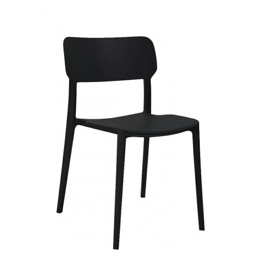 Krzesło AGAT PREMIUM czarne - polipropylen