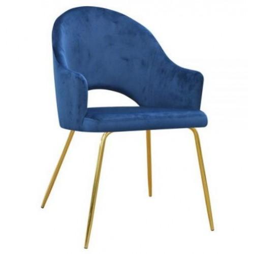 Krzesło Makalu na złotych nogach