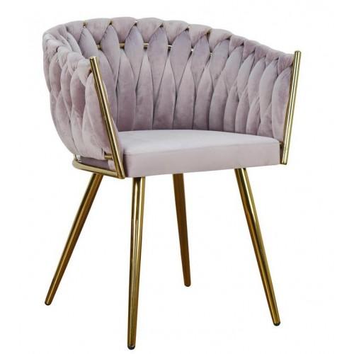 Krzesło Olimpia na złotych nogach