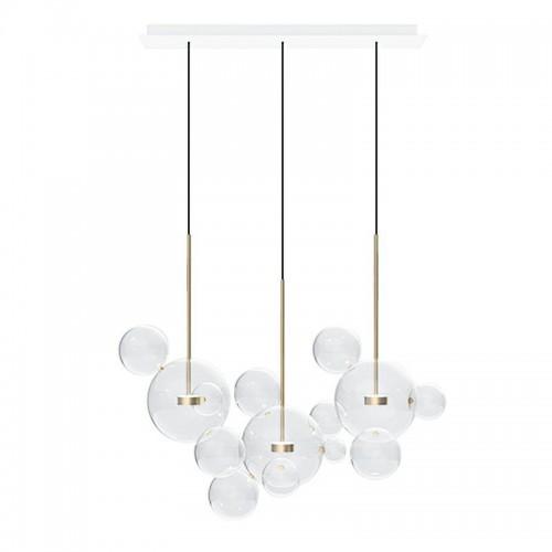 Lampa wisząca CAPRI LINE 3 złota - LED, aluminium, szkło