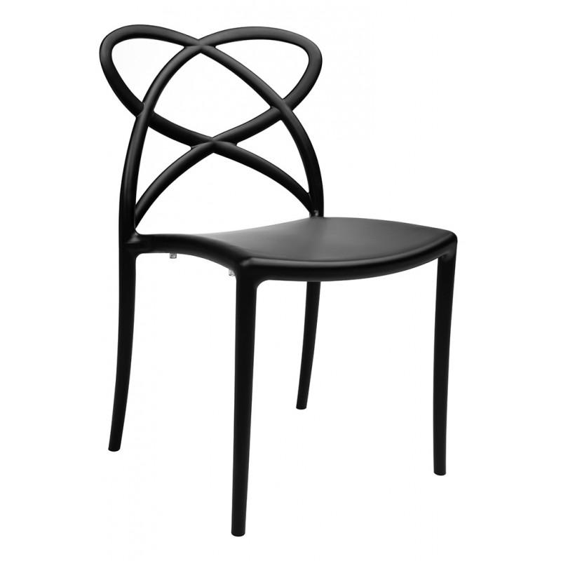 Krzesło ARCO czarne - polipropylen