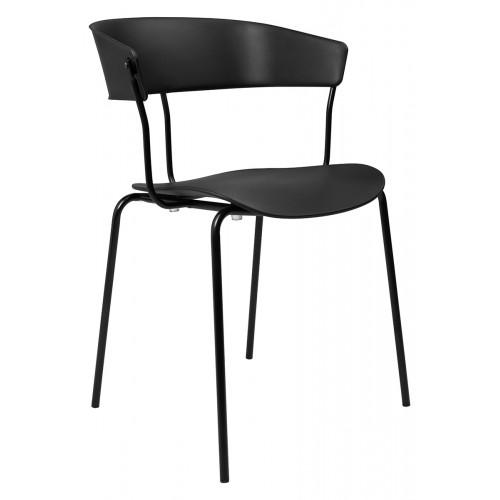 Krzesło JETT czarne - polipropylen, metal
