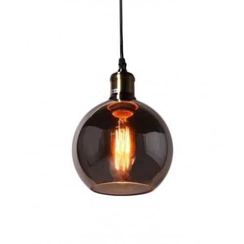 NOWOCZESNA LAMPA WISZĄCA LOFT PRZYDYMIONE SZKŁO ZAGALLO W1