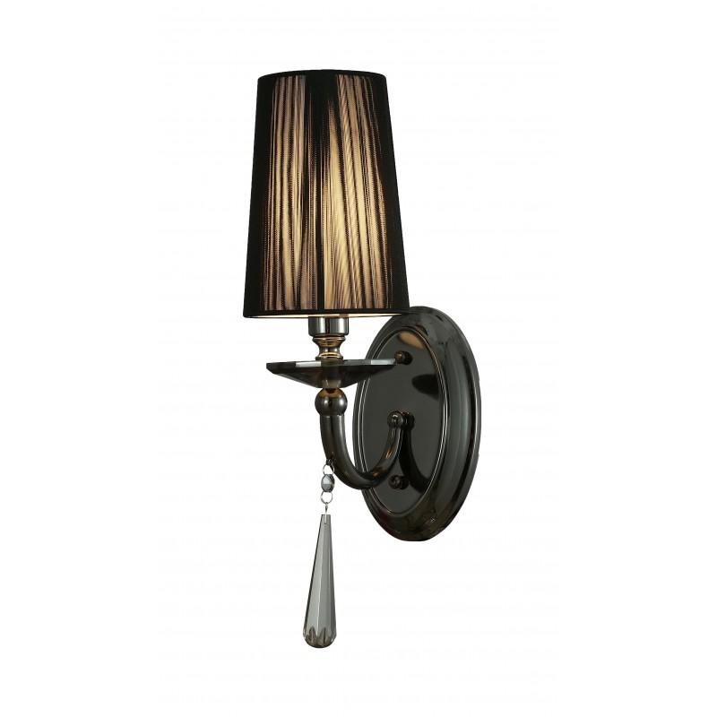 LAMPA ŚCIENNA KINKIET CZARNY FABIONE W1