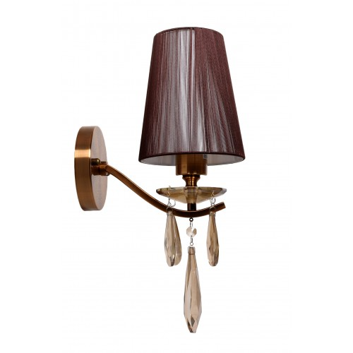 LAMPA ŚCIENNA KINKIET KRYSZTAŁOWY MOSIĘŻNY ALESSIA W1