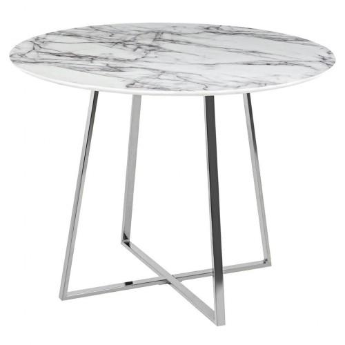 Stół CARAT 100 - MDF, srebrna podstawa
