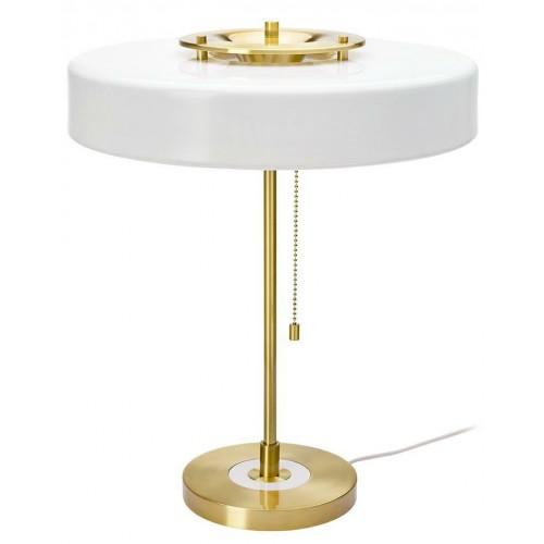 Lampa biurkowa ARTE biało-złota - aluminium, szkło