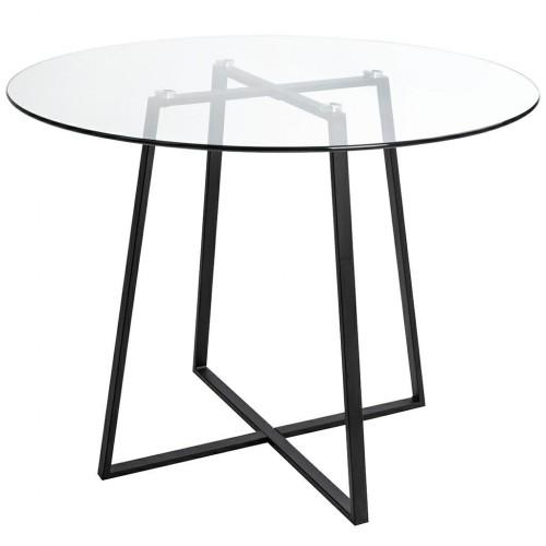 Stół CARAT GLASS 100 - szkło, czarna podstawa