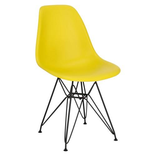 Krzesło P016 PP Black żółty