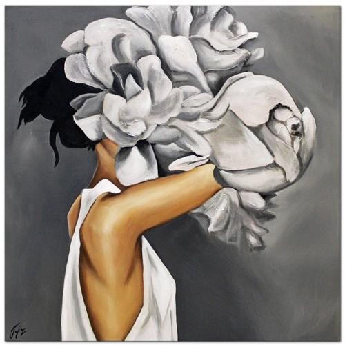 Obraz Abstrakcja Twarz Kwiat 2