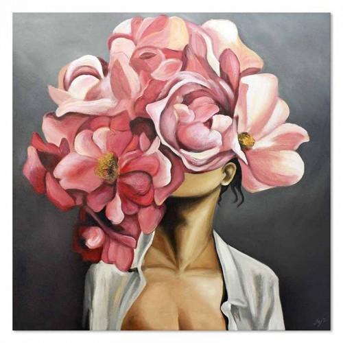 Obraz Abstrakcja Twarz Kwiat 1