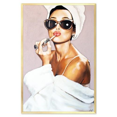 Obraz Kobieta w okularach pink