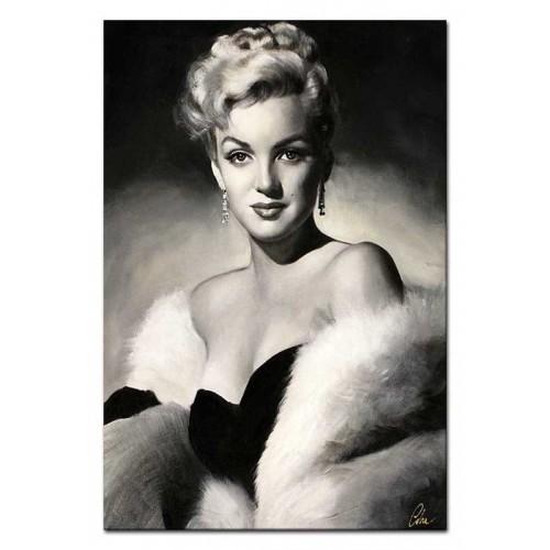 Obraz Marilyn Monroe w białym futrze