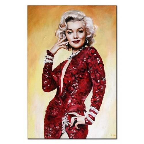 Obraz Marilyn Monroe w czerwonej sukience 2