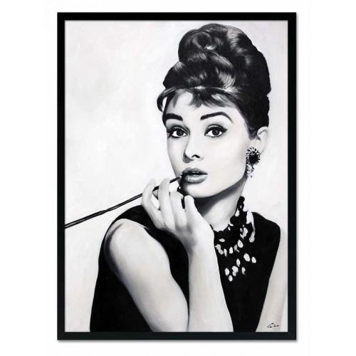 Obraz Audrey Hepburn  z cygaretką