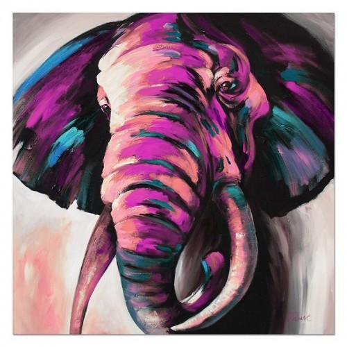 Obraz Słoń magenta