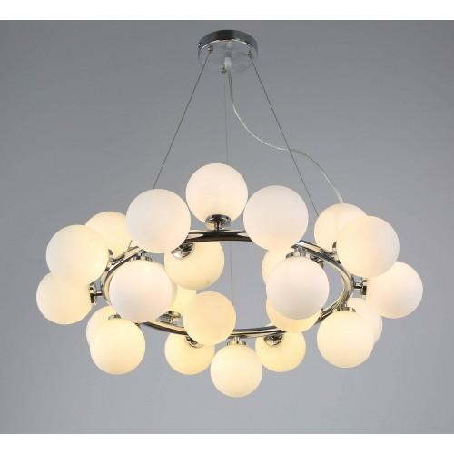 NOWOCZESNA LAMPA WISZĄCA CHROMOWANA MARSIADA W25