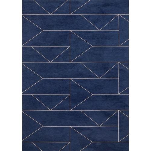 Dywan łatwoczyszczący Marlin Indigo Geometric Blue