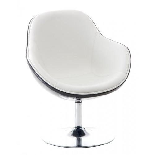 Fotel Pezzo K- czarny, S-białe 906