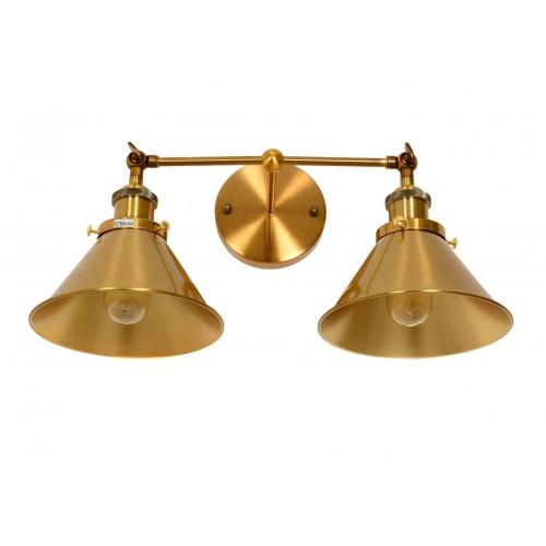 LAMPA ŚCIENNA KINKIET LOFTOWY MOSIĘŻNY GUBI DUO