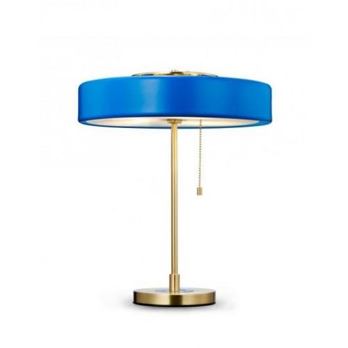 Lampa biurkowa ARTE niebieska - aluminium, szkło