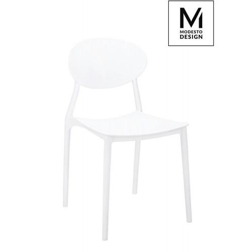 MODESTO krzesło FLEX białe - polipropylen