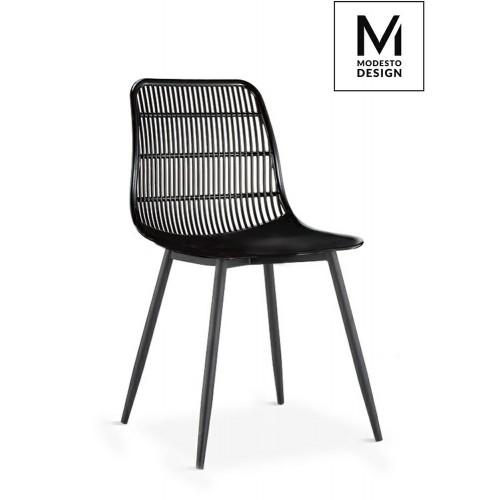 MODESTO krzesło BASKET czarne - polipropylen