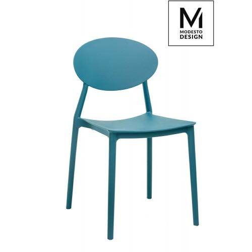 MODESTO krzesło FLEX morskie - polipropylen