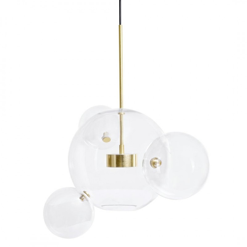 Lampa wisząca CAPRI 4 złota - LED, aluminium, szkło