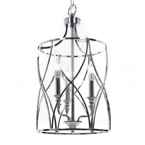 LAMPA SUFITOWA ART DECO CHROMOWANA ELMONT W3