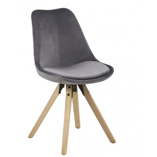 Krzesło Dilma VIC dark grey/wood