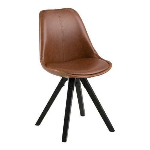 Krzesło Dilma bradny/black PU