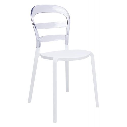 Krzesło CARMEN transparentne - oparcie poliwęglan