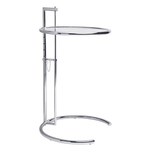 Stolik GREY chromowany - metal, szkło
