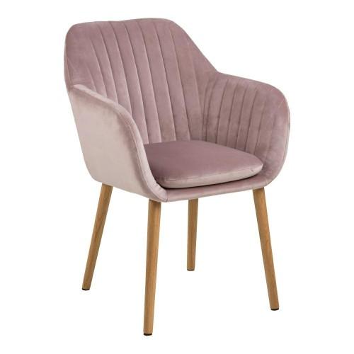 Krzesło Emilian Velvet dusty rose