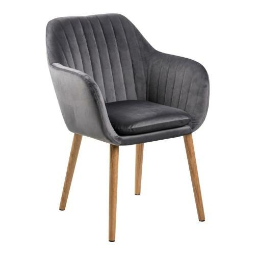 Krzesło Emilian Velvet dark grey