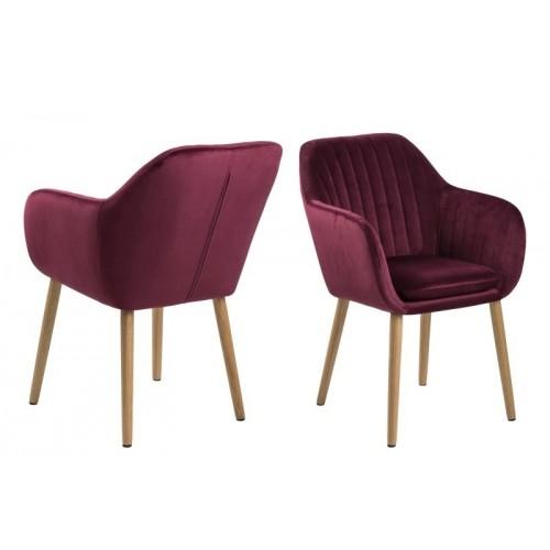 Krzesło Emilian Velvet bordeaux