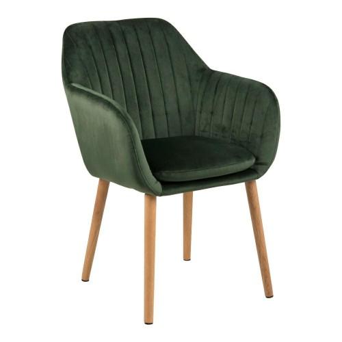 Krzesło Emilian Velvet forest green