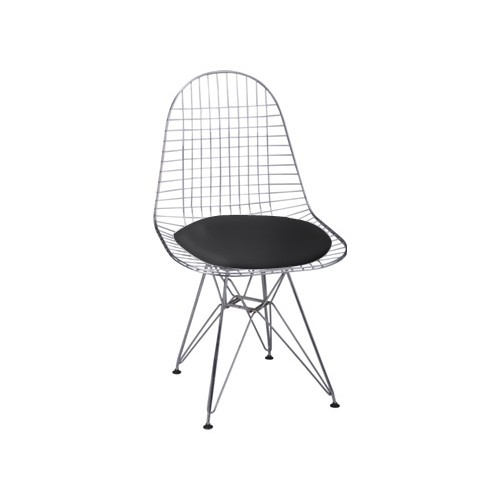Krzesło Net czarna pojedyncza poduszka
