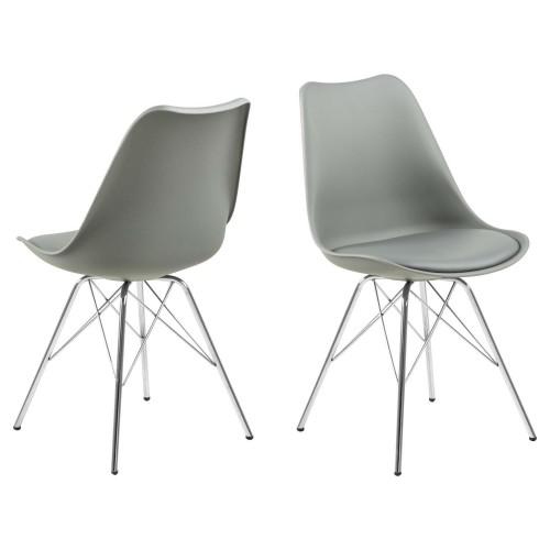 Krzesło Kris PP szare/chrom