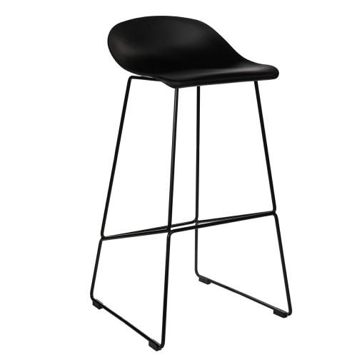 Krzesło barowe Dolly czarne High