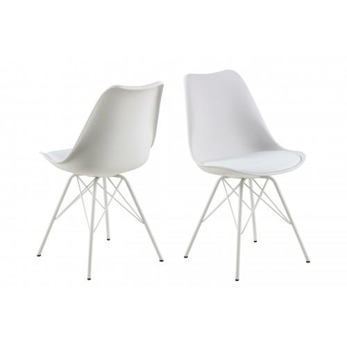 Krzesło Kris PP białe/białe
