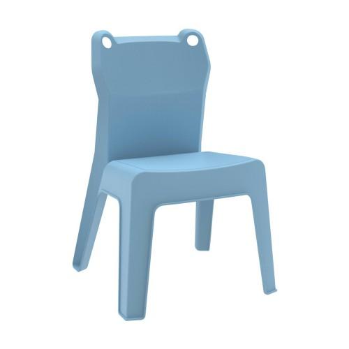 Krzesło dziecięce Jan Frog niebieskie