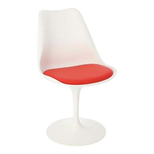 Krzesło Tulipan białe/czerwo na poduszka