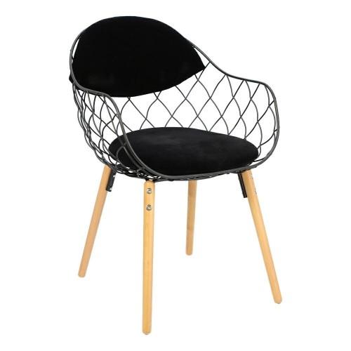 Krzesło Jandi czarne/czarne/naturalne