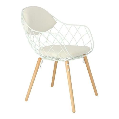 Krzesło Jandi białe/białe/naturalny