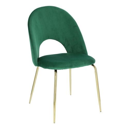 Krzesło Solar Velvet zielone/złote