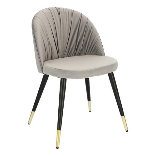 Krzesło Kola Velvet szare