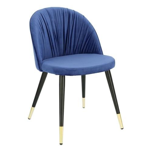 Krzesło Kola Velvet niebieskie