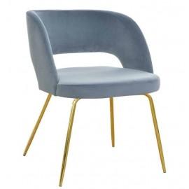 Krzesła tapicerowane na złotych nogach